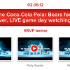 Coke's Bears Host Live Social Super/Polar Bowl Party