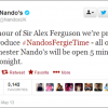 Nando's Real-Time 'Fergie-Time' Newsjacking Tweet