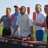 Players (& DJ) Mix Music On Abu Dhabi HSBC Championship Driving Range Decks In Golf First