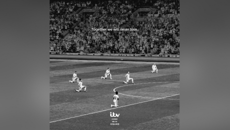 ITV's 'Stand With England' Print/Social Support Message For England Following Racial Abuse